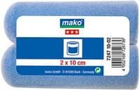 Валик MAKO сменный пена-полиэстер флокированный 10см для рукоятки 6мм, 2 шт в пакете 724710-02