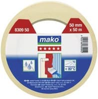 Скотч MAKO малярный 50мх30мм (до 80°С) желтый 831330