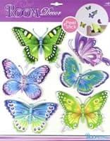 Элемент декоративный ROOM DECOR Разноцветные бабочки CBA 3119