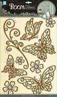 Элемент декоративный ROOM DECOR Бабочки ажурные золото POA 5801