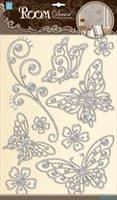 Элемент декоративный ROOM DECOR Бабочки ажурные серебро POA 5802
