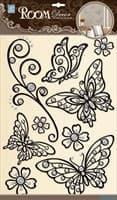 Элемент декоративный ROOM DECOR Бабочки ажурные черные POA 5803