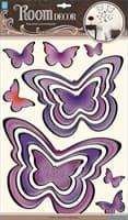 Элемент декоративный ROOM DECOR Бабочки ультрафиолет POA 5860