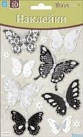 Элемент декоративный ROOM DECOR Бабочки черно-белые мини PSA 0102