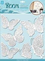 Элемент декоративный ROOM DECOR Мерцающие бабочки, белые CBA 1402