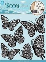 Элемент декоративный ROOM DECOR Мерцающие бабочки, черные CBA 1401