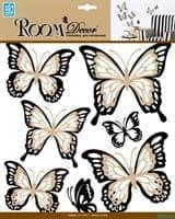 Элемент декоративный ROOM DECOR Многослойные бабочки с блестками REA 5002