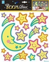 Элемент декоративный ROOM DECOR Светящийся месяц со звездами REA 4505