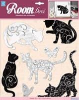 Элемент декоративный ROOM DECOR Черно и белые кошечки PSA 6714