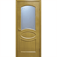 Полотно ОМИС дверное Лаура КР 600*2000*40 дуб натуральный тонированный