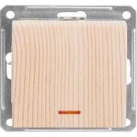 Выключатель WESSEN W59 VS116-153-7-86 скр.уст. 1-кл с индикатором б/рамки (250В,16А)