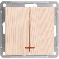 Выключатель WESSEN W59 VS516-251-7-86 скр.уст. 2-кл с индикатором б/рамки (250В,16А)